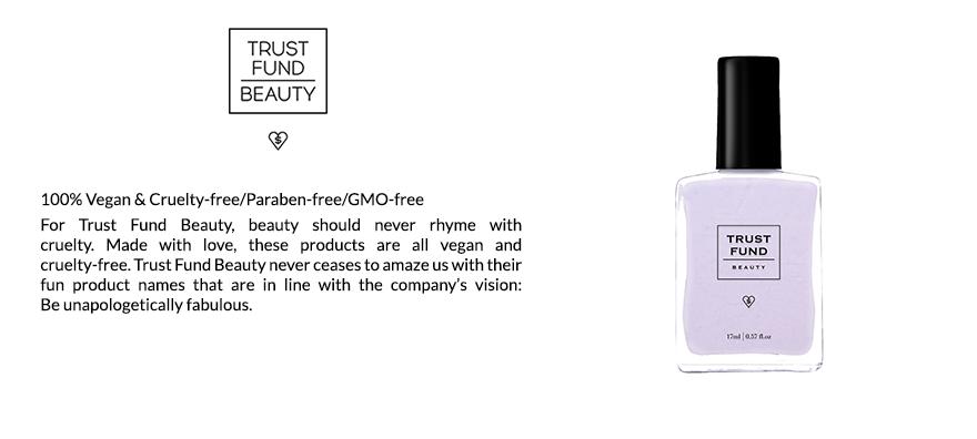New Vegan Makeup! Shop Trust Fund Beauty vegan, paraben-free, and GMO-free nail polishes & lipsticks at Scarlet & Julia!
